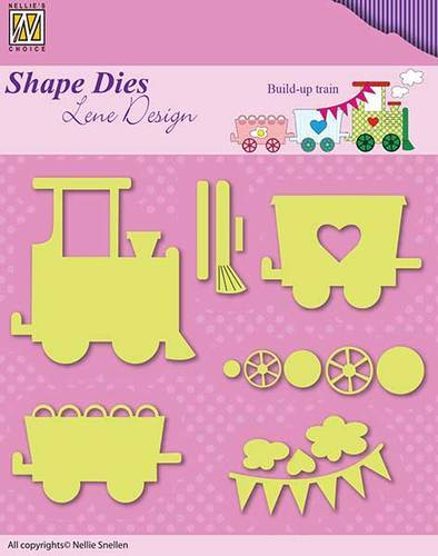 SDL033 Shape Dies Lene Baby serie build-up train