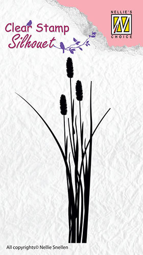 SIL003 Silhouette clear stamps ears of grass-2