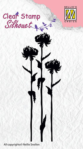 SIL004 Silhouette clear stamps flower-7