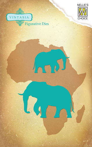 VIND030 Vintasia Die Big-Five serie African Elephant