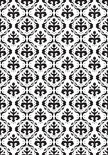 VINF001 Embossing Folder 106x150mm Vintasia Baroc background pattern