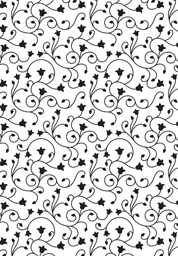 VINF004 Embossing Folder 106x150mm Vintasia Swirl background pattern