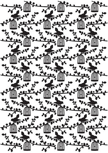 VINF006 Vintasia Embossing folder Bird pattern