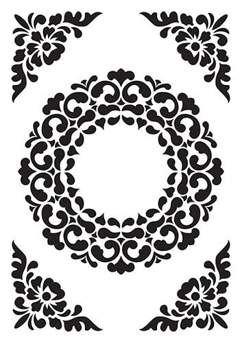 VINF007 Vintasia Embossing folder Ornament Frame