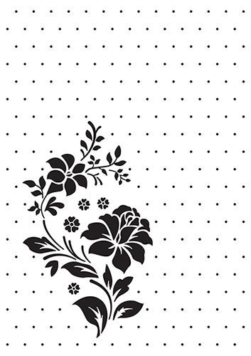 VINF008 Vintasia Embossing folder Rose Ornament