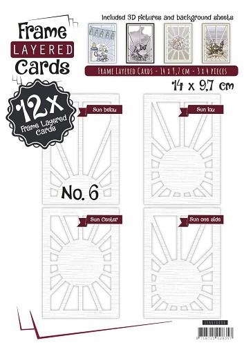 LCA610006 Frame Layered Cards 6 - A6