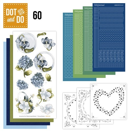 DODO060 Dot and Do 60 - Blauwe bloemen