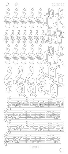 Music Notes Platinum - Zilver