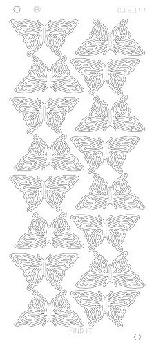 CD3077G Butterflies Large Platinum - Goud