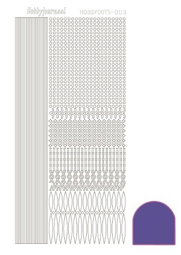 STDM039 Hobbydots sticker - Mirror - Purple