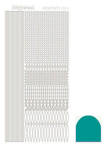 STDM03I Hobbydots sticker - Mirror - Emerald