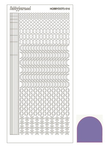 STDM169 Hobbydots sticker - Mirror Purple