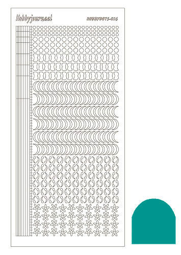 STDM16I Hobbydots sticker - Mirror - Emerald
