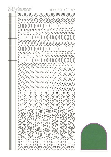STDM172 Hobbydots sticker - Mirror Green