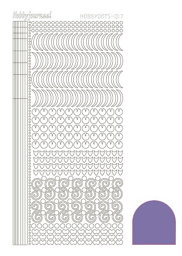 STDM179 Hobbydots sticker - Mirror Purple