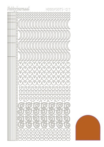 STDM17B Hobbydots sticker - Mirror Copper