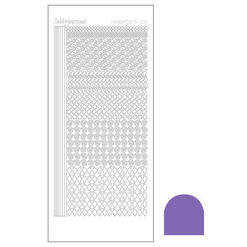 STDM199 Hobbydots sticker - Mirror Purple