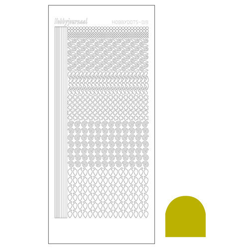 STDM19E Hobbydots sticker - Mirror Yellow