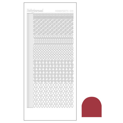 STDM19H Hobbydots sticker - Mirror - Christmas Red