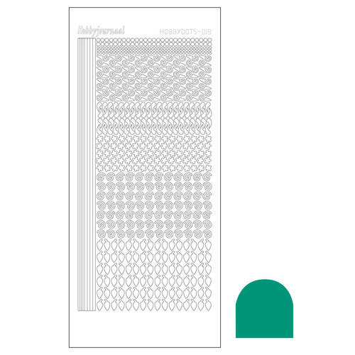 STDM19I Hobbydots sticker - Mirror - Emerald