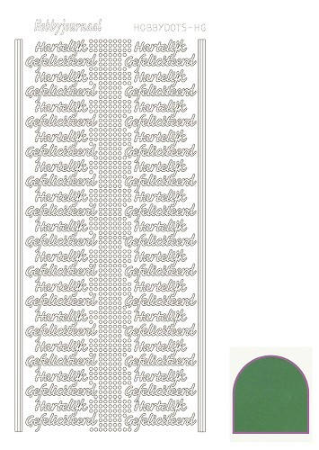 STDMHG02 Hobbydots sticker - Mirror - Green