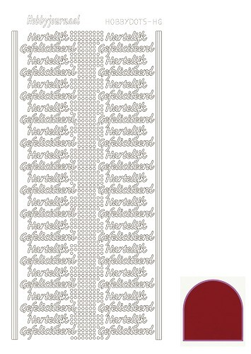 STDMHG04 Hobbydots sticker - Mirror - Red
