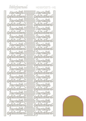 STDMHG07 Hobbydots sticker - Mirror - Gold