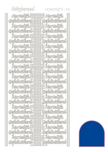 STDMHG0A Hobbydots sticker - Mirror - Blue
