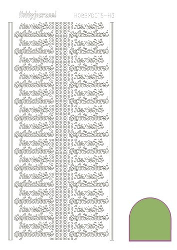 STDMHG0C Hobbydots sticker - Mirror - Lime