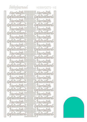 STDMHG0I Hobbydots sticker - Mirror Emerald
