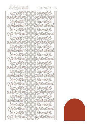 STDMHGH Hobbydots sticker - Mirror - Christmas Red