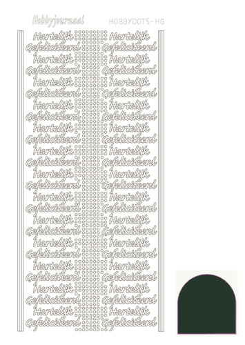 STDMHGJ Hobbydots sticker - Mirror - Christmas Green