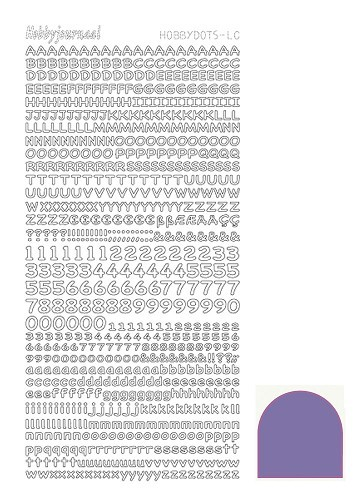 STDMLC9 Hobbydots sticker - Mirror Purple