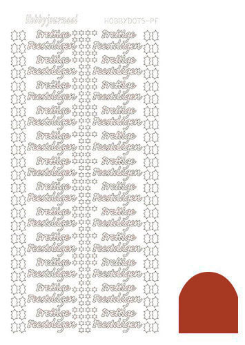 STDMPFH Hobbydots sticker - Mirror - Christmas Red