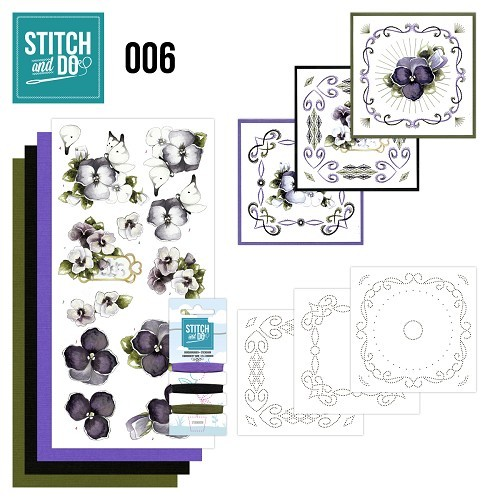 STDO006 Stitch and Do 6 - Viooltjes