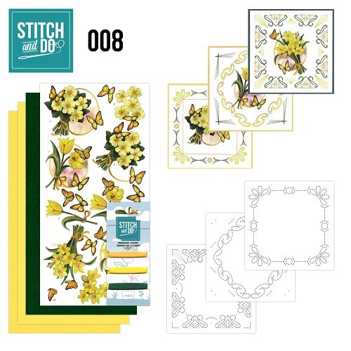 STDO008 Stitch and Do 8 - Gele bloemen