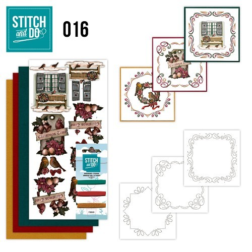 STDO016 Stitch and Do 16 - Brocante kerst