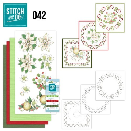 STDO042 Stitch and Do 42 - White Christmas Flowers