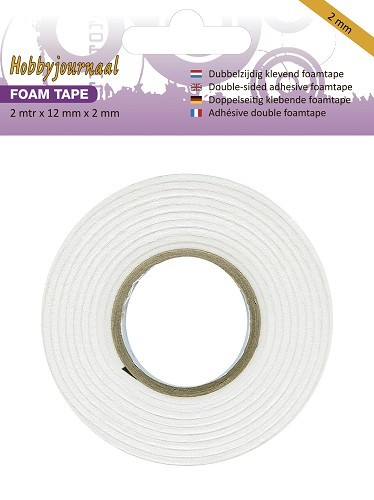 Hobbyjournaal - Foam tape - 2 mm