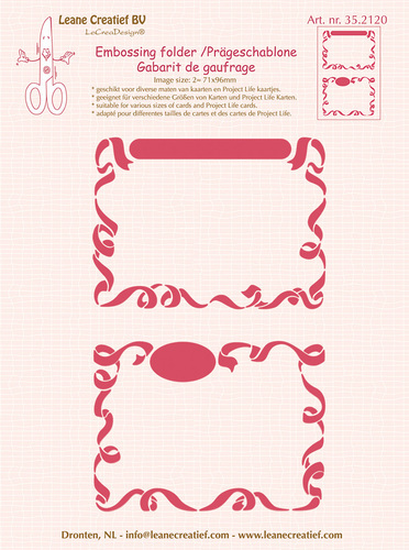 35.2120 Embossing folder 2x Little Frames 71x96mm