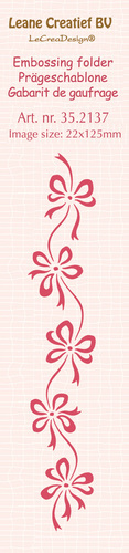 35.2137 Border embossing folder Bows 22x125mm