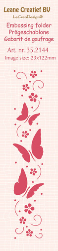 35.2144 Border embossing folder Butterflies 23x122mm