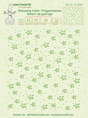35.2564 Embossing folder background Stars 14.4x16cm