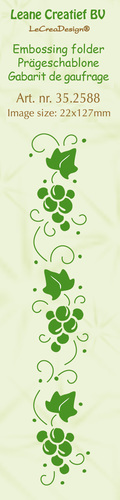 35.2588 Border embossing folder Grapes 22x127mm