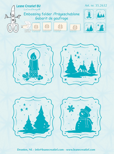 35.2632 Embossing folder Frames Winter 14.4x16cm