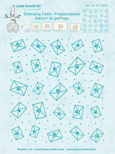 35.2656 Embossing folder background Envelopes 14.4x16cm