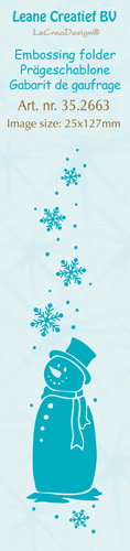 35.2663 Border embossing folder Snowman 25x127mm