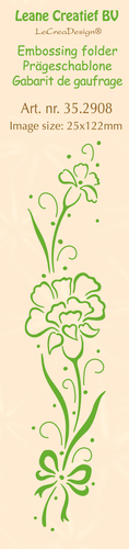 35.2908 Border embossing folder Carnation 25 x 122mm