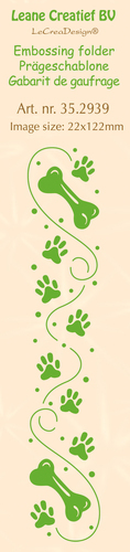 35.2939 Border embossing folder Paws & Bones 22 x 122mm