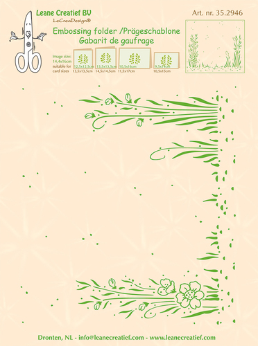 35.2946 Embossing folder background Garden 14.4 x 16cm